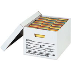 15'' x 12'' x 10''  Auto-Lock Bottom File Storage Boxes - case of 12