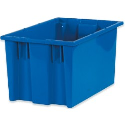 10x16x8 7/8'' Blue Stack & Nest Container 6ct