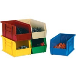 11x18x10'' Green  Plastic Stack & Hang Bin Boxes 4ct