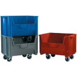 15 1/4x19 7/8x12 7/16''  Blue Mobile Giant Stackable Bins 3ct