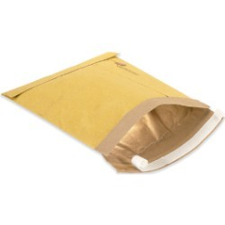 8 1/2'' x 12'' (2) Kraft  Self-Seal Padded Mailers - case of 100