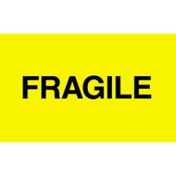 3'' x 5'' - ''Fragile'' Labels - 500 per roll