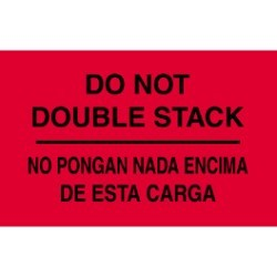3'' x 5'' - ''Do Not Double Stack'' Labels  Bilingual - 500 per roll