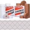 3'' x 375' White  Central - 250 Reinforced Tape - case of 8