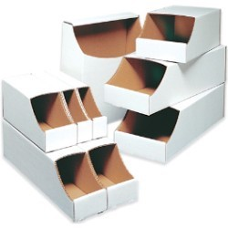 7x12x4 1/2''  Stackable Bin Boxes 50ct