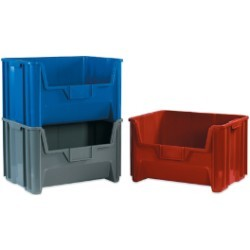 15 1/4x19 7/8x12 7/16'' Blue Giant Stackable Bins 3ct