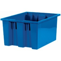 14 1/2x17x9 7/8'' Blue Stack & Nest Container 6ct