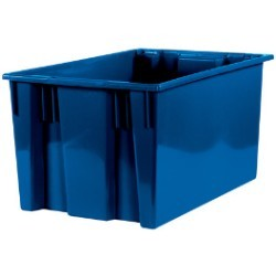 18 1/4x26 5/8x14 7/8''  Blue Stack & Nest Container 3ct