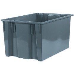 18 1/4x26 5/8x14 7/8'' Gray Stack & Nest Container 3ct