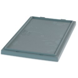 16x10'' Gray Stack & Nest Lids 6ct