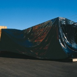 10' x 100' - 6 Mil  Black Poly Sheeting - roll