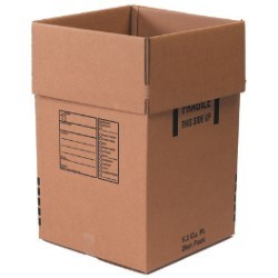 18'' x 18'' x 28''  350# Dish Pack Boxes - pack of 5