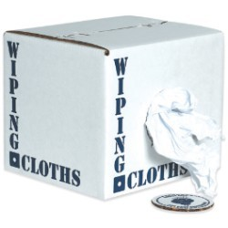 Box of Rags - Reclaimed White Knit - each