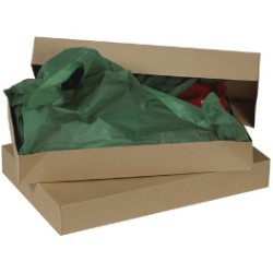 19'' x 12'' x 3'' Kraft  Apparel Boxes - case of 50