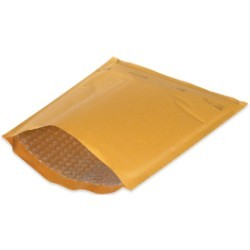 9 1/2'' x 14 1/2'' (4) Kraft  Heat-Seal Bubble Mailers (25 Pack) - case of 25