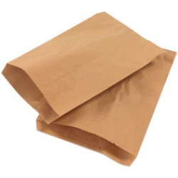 6 1/4'' x 9 1/4'' Kraft  Flat Merchandise Bags - case of 3000