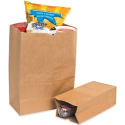 16'' x 7 3/4'' x 4 3/4'' Kraft  Grocery Bags - case of 500