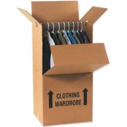 20'' x 20'' x 45''  Wardrobe Packing Boxes - pack of 5