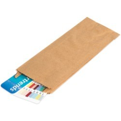 17 x 24 x 4 Kraft  Gusseted Merchandise Bags - case of 500