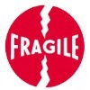 4'' x 4'' - ''Fragile'' Labels - 500 per roll