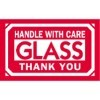 3'' x 5'' - ''Glass - Handle With Care'' Labels - 500 per roll
