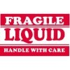 3'' x 5'' - ''Fragile - Liquid - Handle With Care'' Labels - 500 per roll