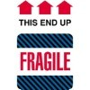 4'' x 6'' - ''This End Up - Fragile'' Labels - 500 per roll