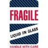 4'' x 6'' - ''Fragile - Liquid in Glass'' Labels - 500 per roll