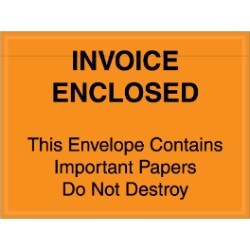 4 1/2'' x 6''  ''Important Papers Enclosed'' Envelopes - case of 1000